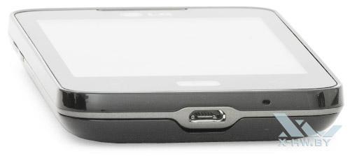 Нижний торец LG Optimus Hub E510
