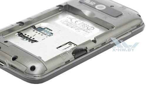 Разъем для карты microSD на LG Optimus Hub E510