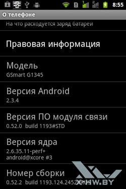 Информация о Gigabyte GSmart G1345. Рис. 2