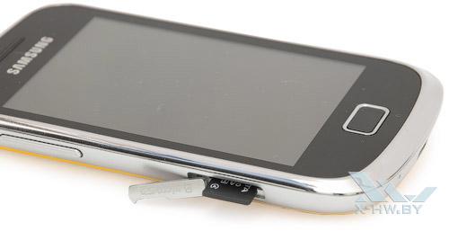 Разъем для microSD-карты на Samsung Galaxy Mini 2