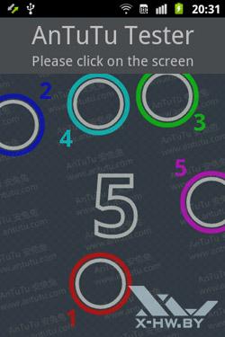 Число касаний, поддерживаемых экраном Samsung Galaxy Mini 2