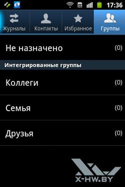 Группы контактов на Samsung Galaxy Mini 2