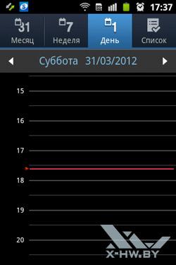Календарь на Samsung Galaxy Mini 2. Рис. 3