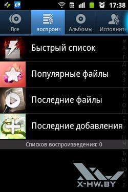 Музыкальный плеер на Samsung Galaxy Mini 2. Рис. 2