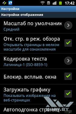 Настройки на Samsung Galaxy Mini 2. Рис. 1