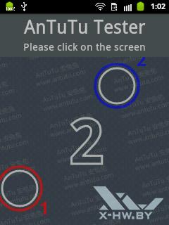 Количество касаний, поддерживаемых экраном Samsung Galaxy Pocket