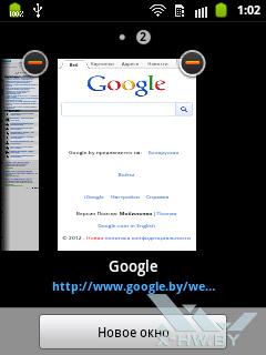 Параметры браузера на Samsung Galaxy Pocket