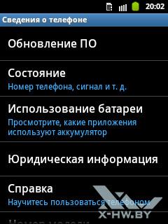 Сведения о Samsung Galaxy Pocket. Рис. 1