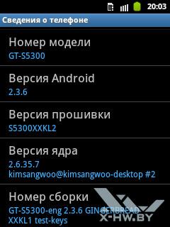 Сведения о Samsung Galaxy Pocket. Рис. 2