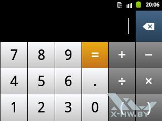 Калькулятор на Samsung Galaxy Pocket. Рис. 3