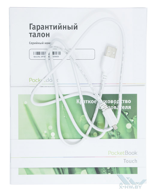 Комплектация PocketBook Touch