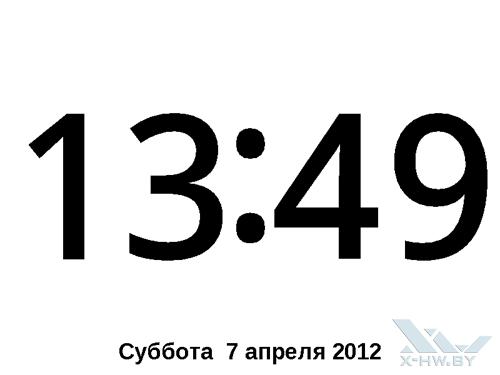 Приложение Часы на PocketBook Touch