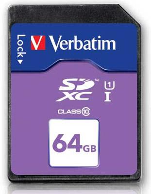 Verbatim SDXC 64 ГБ class 10