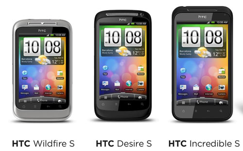 HTC Desire S, Wildfire S, Incredible S