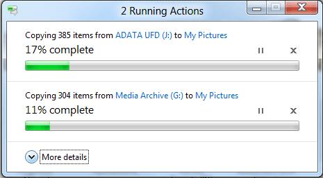 Окно копирования файлов в Windows 8. Рис. 1