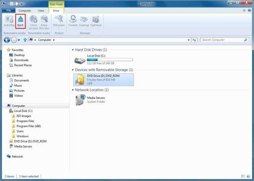 Подмонтированный ISO-образ в Windows 8