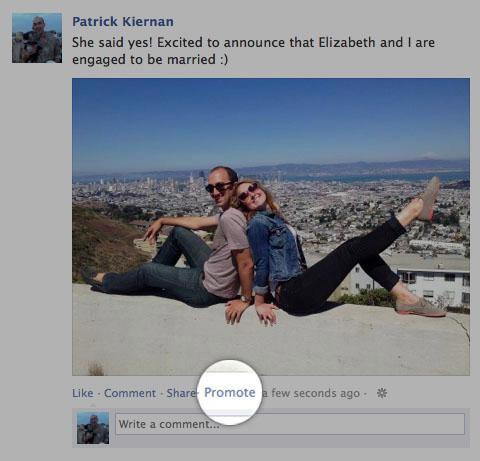 Facebook продвигает посты пользователей за деньги