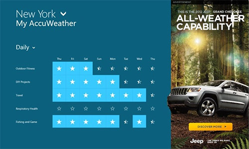 Реклама появится внутри программ из Windows Store