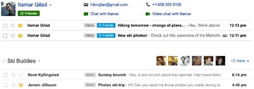 Gmail еще теснее интегрировали с Google+