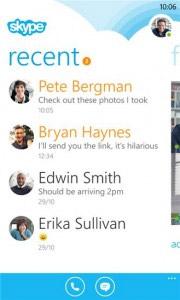 Вышла тестовая версия Skype для Windows Phone 8