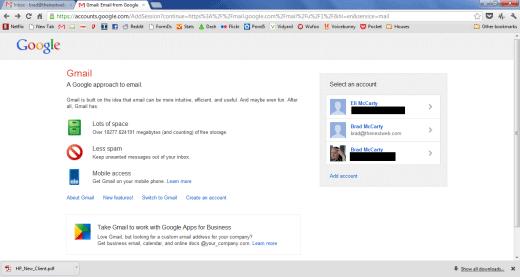 Gmail упростит работу с несколькими ящиками