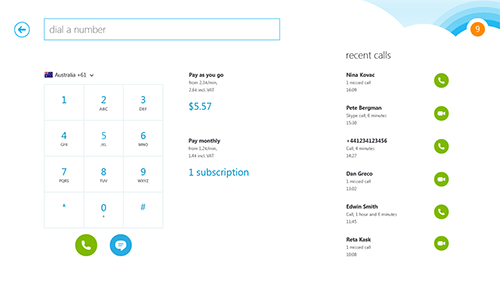 Skype в Windows 8