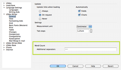 Настройка тире и дефисов в LibreOffice Writer 4.0
