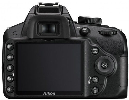 Nikon D3200. Вид сзади