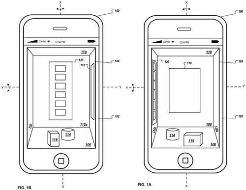 Apple хочет сделать трехмерный интерфейс для iPhone
