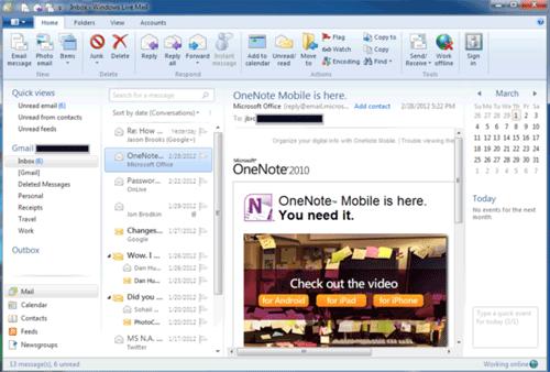 Windows 8 получила удобную почту