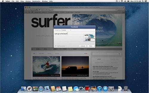 Интеграция OS X 10.8 с Facebook