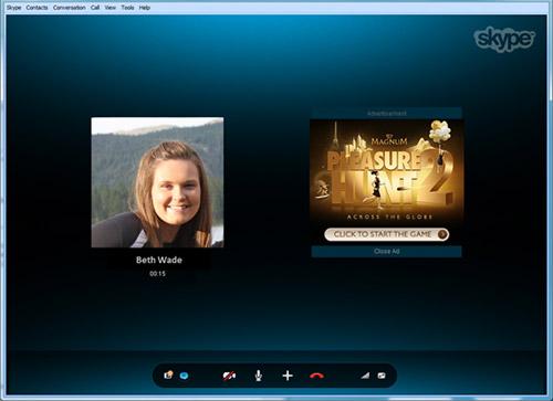 Skype с рекламой