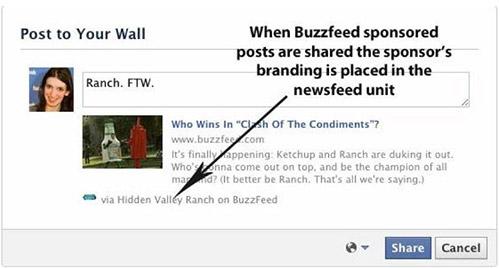Facebook будет показывать рекламу в ленте событий