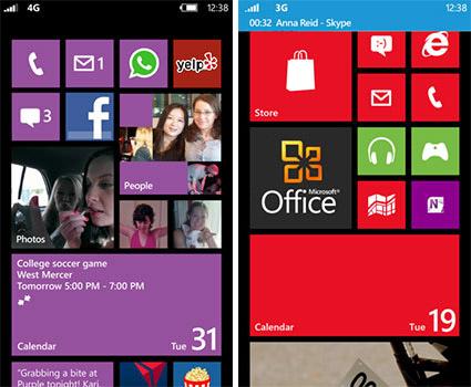 Рабочий стол Windows Phone 8
