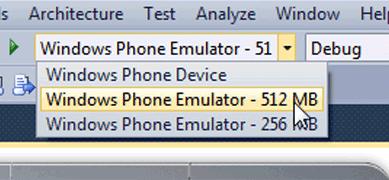 В Windows Phone SDK добавлена поддержка WP7 Tango