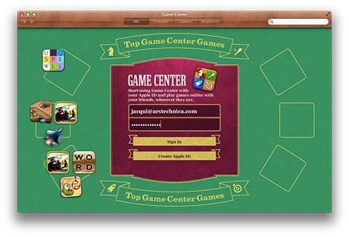 OS X Game Center