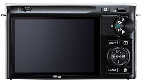 Nikon 1 J2. Вид сзади