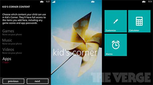 В Windows Phone 8 будет «уголок для детей»