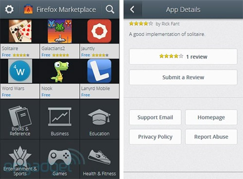Firefox OS Marketplace