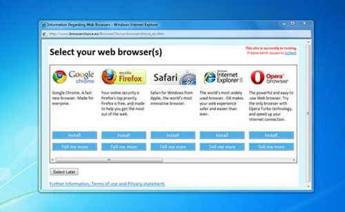 Microsoft вернет экран выбора браузера, независимо от решения Еврокомиссии