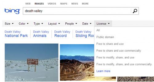 Bing научился отличать авторские изображения