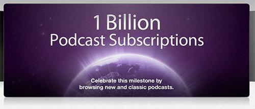 В iTunes насчитали 1 миллиард подписок на подкасты