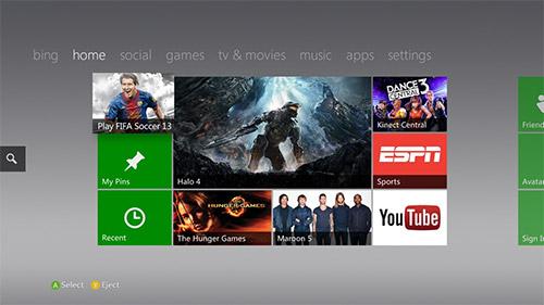 Xbox 720 получит плиточный интерфейс Windows 8?