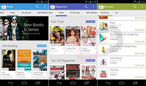 Google Play 4.0 получит новый интерфейс