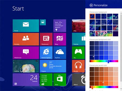 Настройка стартового экрана Windows Blue