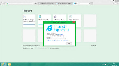 IE 11 в Windows Blue