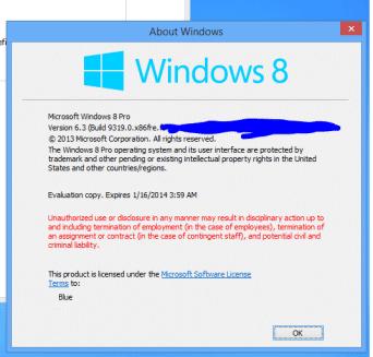 Скриншот Windows Blue