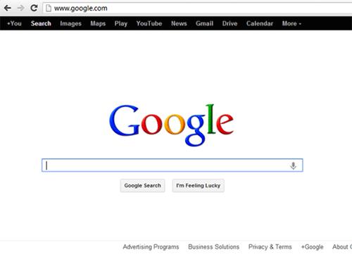 Старая страница поиска Google