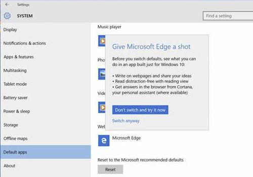 Microsoft edge как сделать по умолчанию