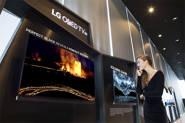 В исландии воспроизвели северное сияние на OLED телевизорах LG